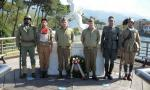 Cerimonia commemorativa al monumento a Montignoso